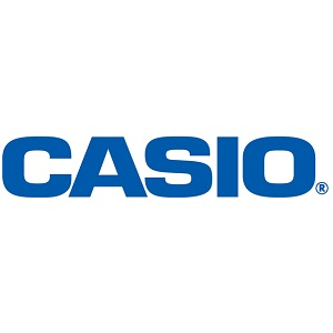 Casio blue text logo