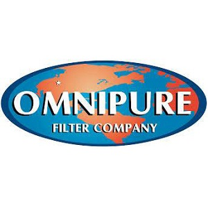 Omnipure Filter Company oval world logo