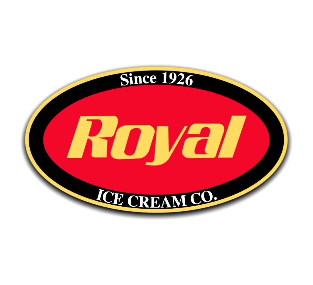 Royal Ice Cream Co. red black and yellow logo