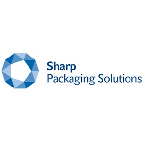 Sharp Packaging Solutions Logo in Blue