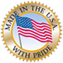 made in u.s.a. logo with american flag and gold seal
